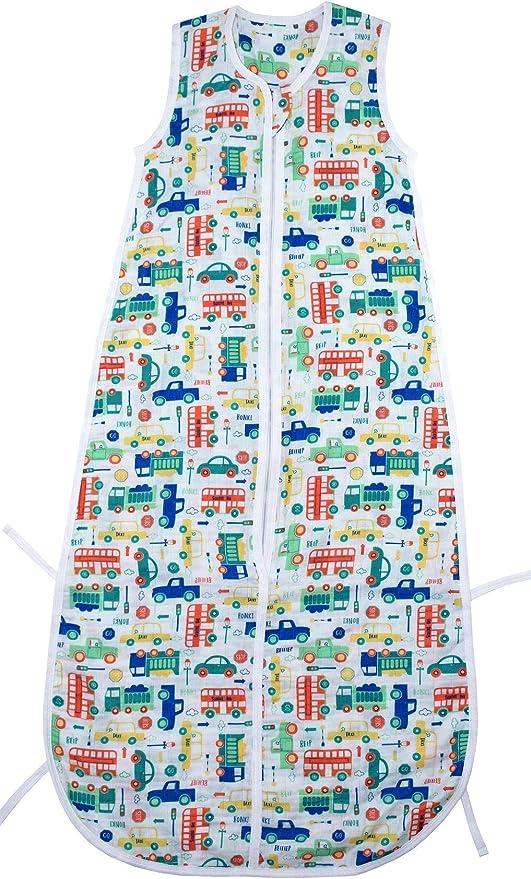 El saco de dormir de verano Slumbersac para bebés, de aprox. 0.5 Tog – Coches– de 0 a 6 meses/70 cm: Amazon.es: Bebé