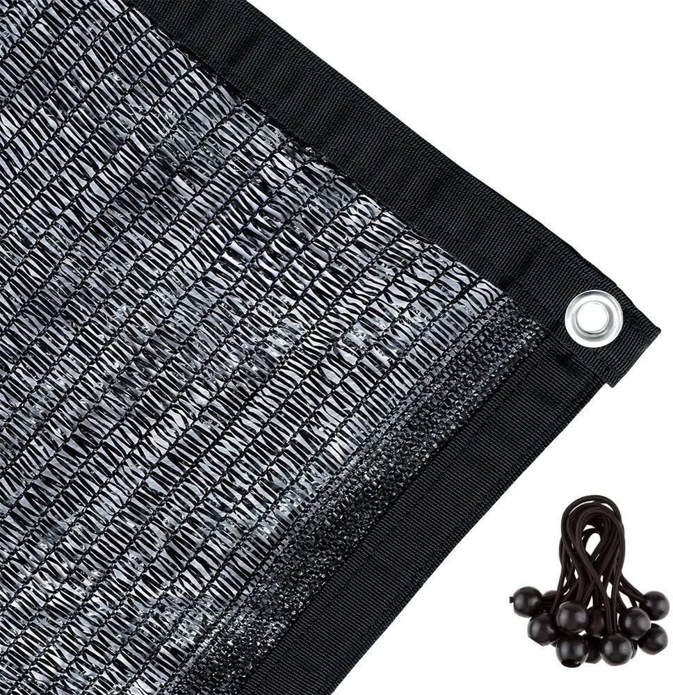 Agfabric 50 Sunblock Shade Cloth with Grommets for Garden Patio 12 X 18 , Black