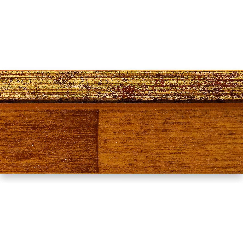 Online Galerie Bingold Bilderrahmen Hell-Braun Gold Gold Gold 60x80-60 x 80 cm - Modern, Shabby, Vintage - Alle Größen - Handgefertigt in Deutschland - WRF - Catanzaro 3,9 167216