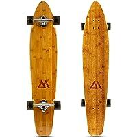 Magneto 44 inch Kicktail Cruiser Longboard Skateboard   Bamboo and Hard Maple Deck   Cruising, Carving, Dancing, Free…