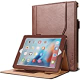 SAVFY iPad 2/3/4 Book Case Premium Flip Leather Wallet Smart Cover for iPad 2 3 4, Brown