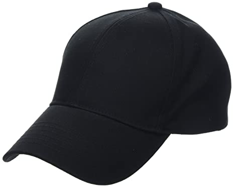 Mens Twill Baseball Cap, Black, One Size (Manufacturer Size: 99) New Look