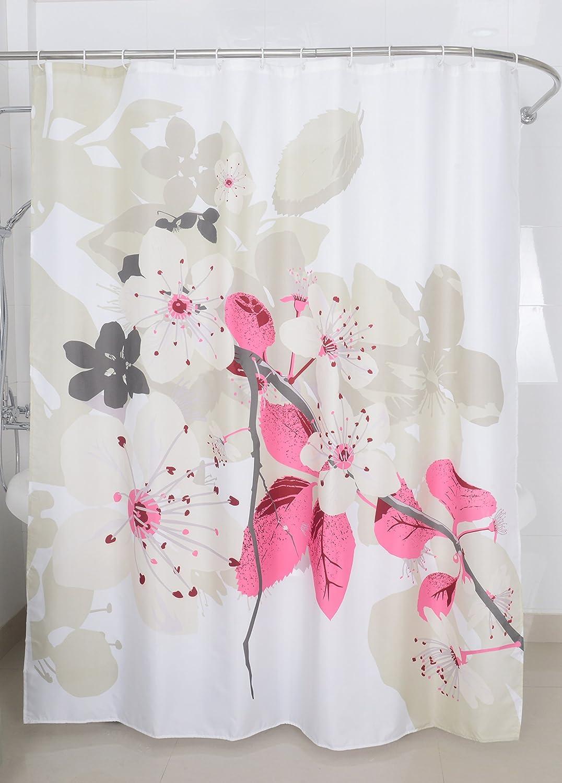 Magic Vida Decorative Flowers Shower Curtain Nature Series With Vivid Color Brighten Bathroom