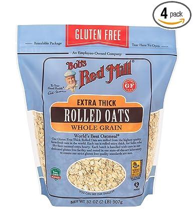 De Bob Red Mill Sin Gluten extra grueso Copos de avena, 32 ...