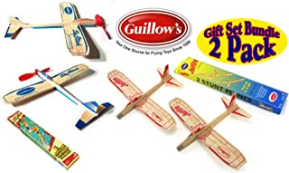 product image for Guillows Balsa Wood Gliders Jetfire Twin Pack & Sky Streak Twin Pack Gift Set Bundle - (4 Planes Total) by Guillow
