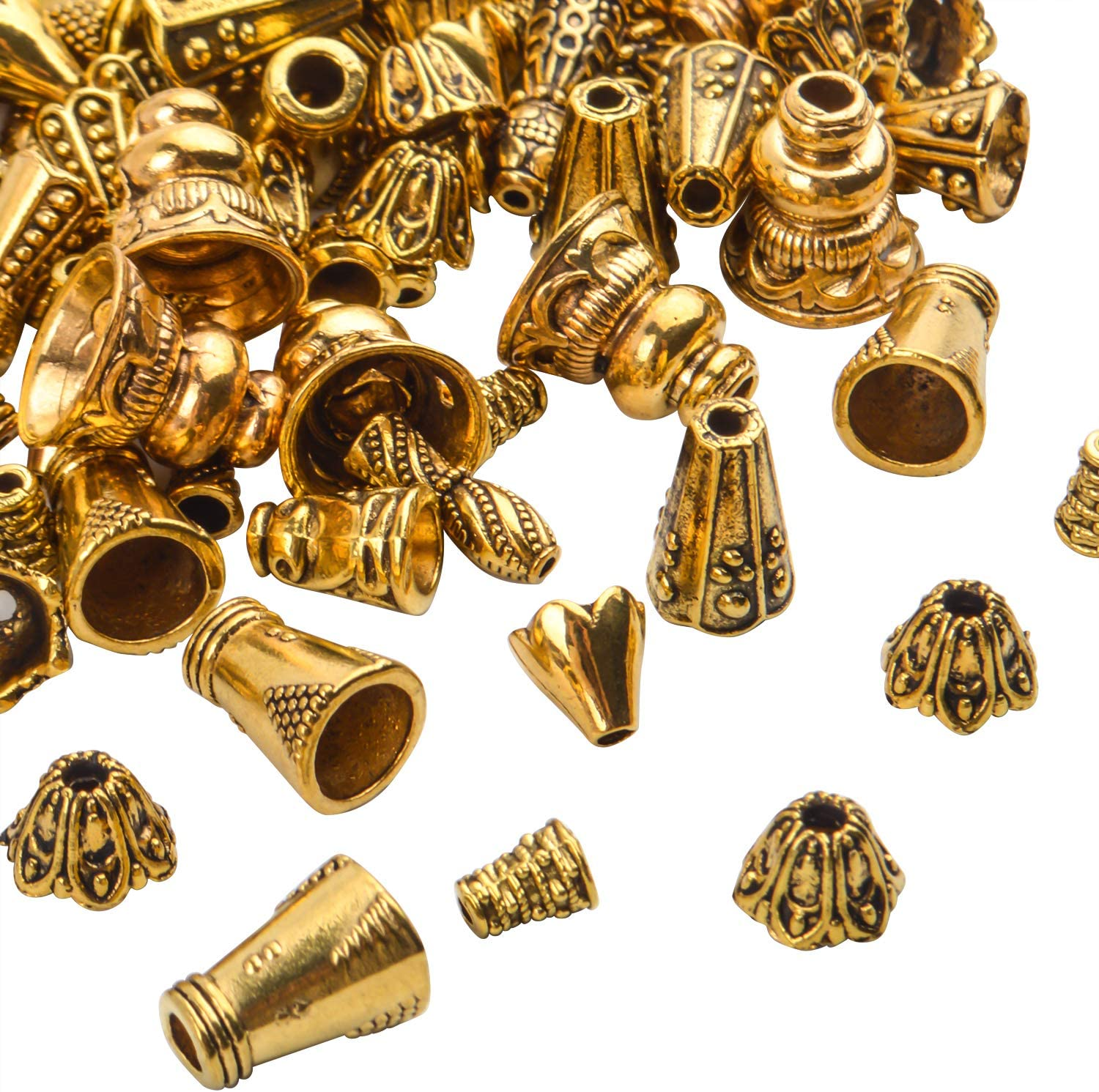 0.05 EURpc 1.5 mm 40 end caps for ribbons in antique bronze