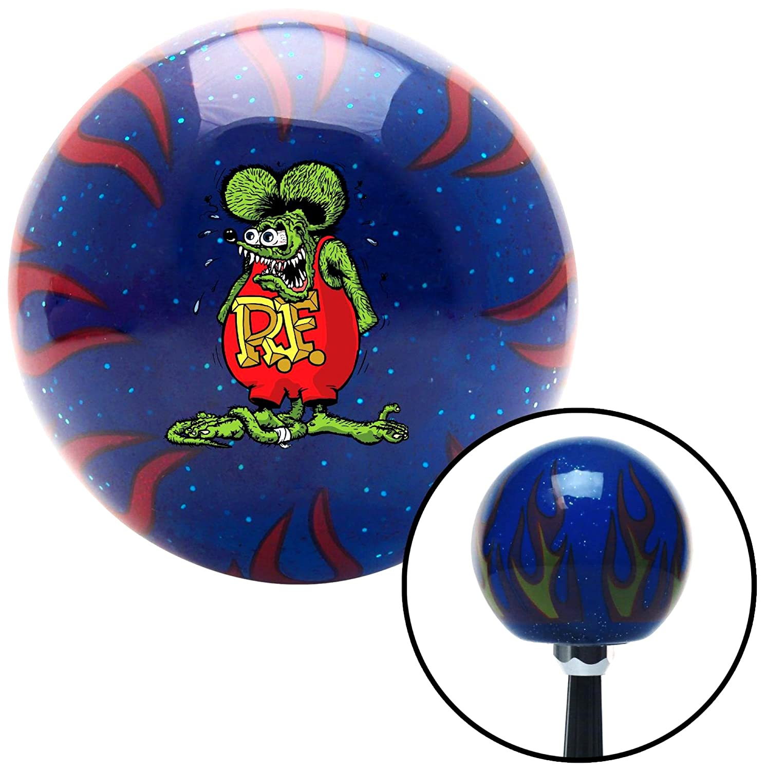 American Shifter 327583 Rat Fink Green Flame Metal Flake Shift Knob with M16 x 1.5 Insert