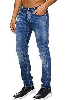 Megastyl Basic-Jeans-Hose Herren Stretch-Denim Slim-Fit Extra Komfort 84fa7863ea