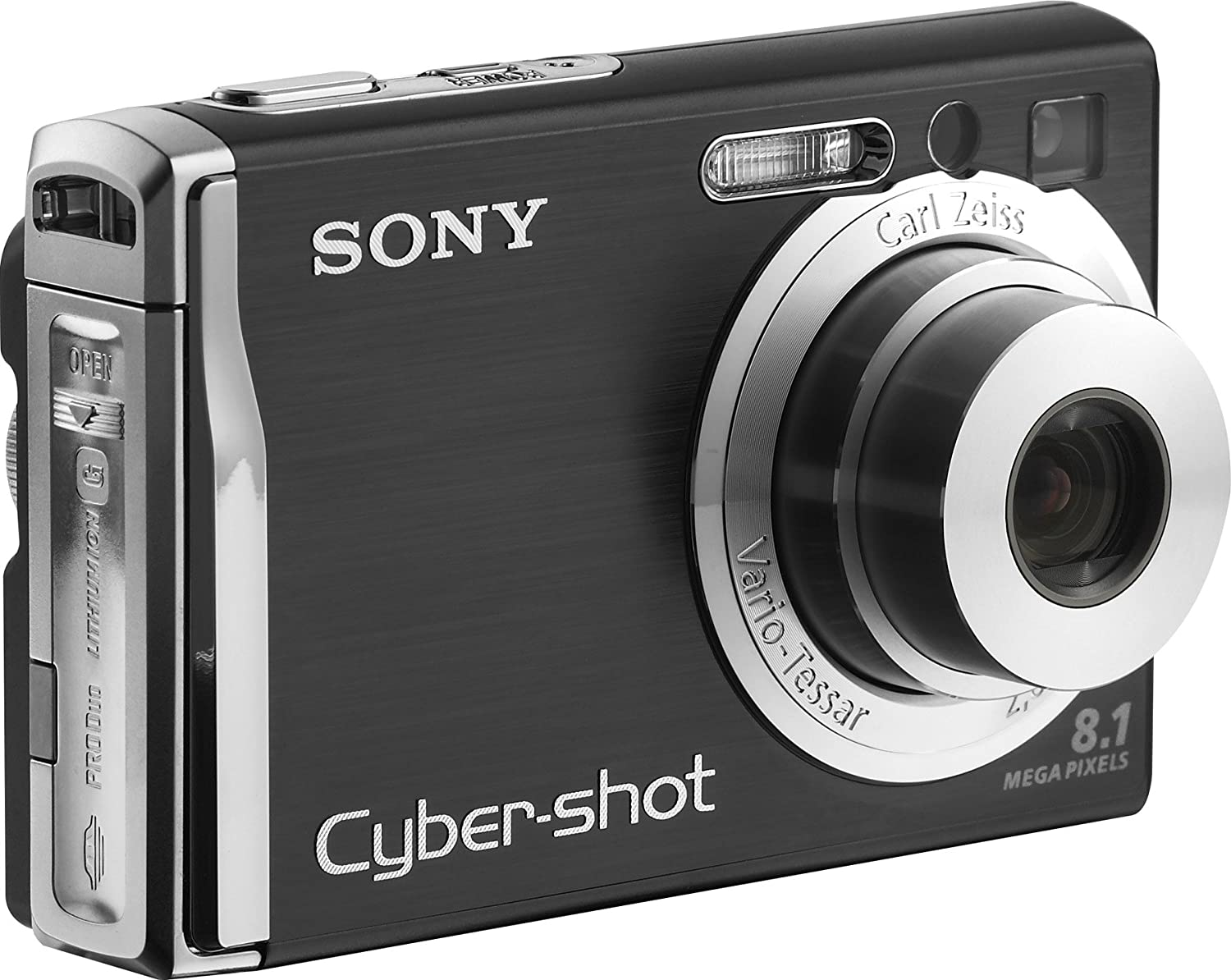 Amazon.com : Sony Cybershot DSCW90 8.1MP Digital Camera with 3x Optical  Zoom and Super Steady Shot (Black) : Point And Shoot Digital Cameras :  Camera & ...