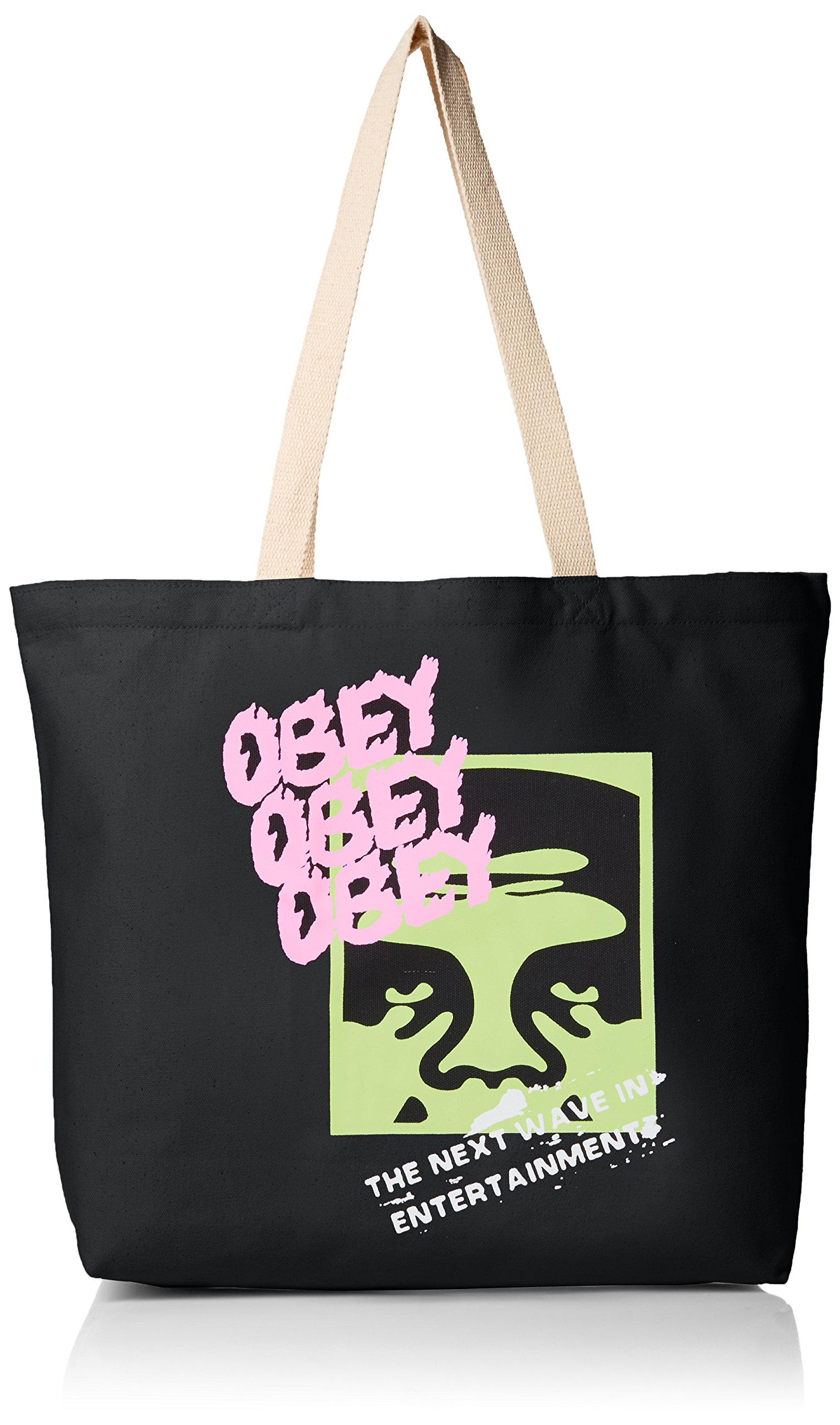 OBEY Men's the Next Wave Tote Bag, Black, O/S