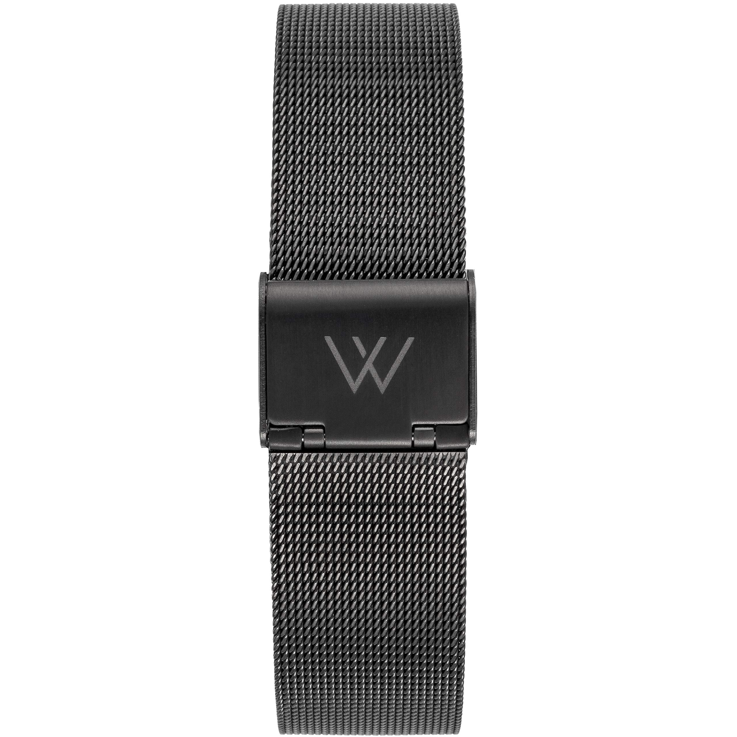 WRISTOLOGY Quick Release Adjustable Interchangeable Metal Link Mesh Milanese Stainless Steel Watch Band in Silver Rose Gold for Men Women - 14 16 18 20 MM