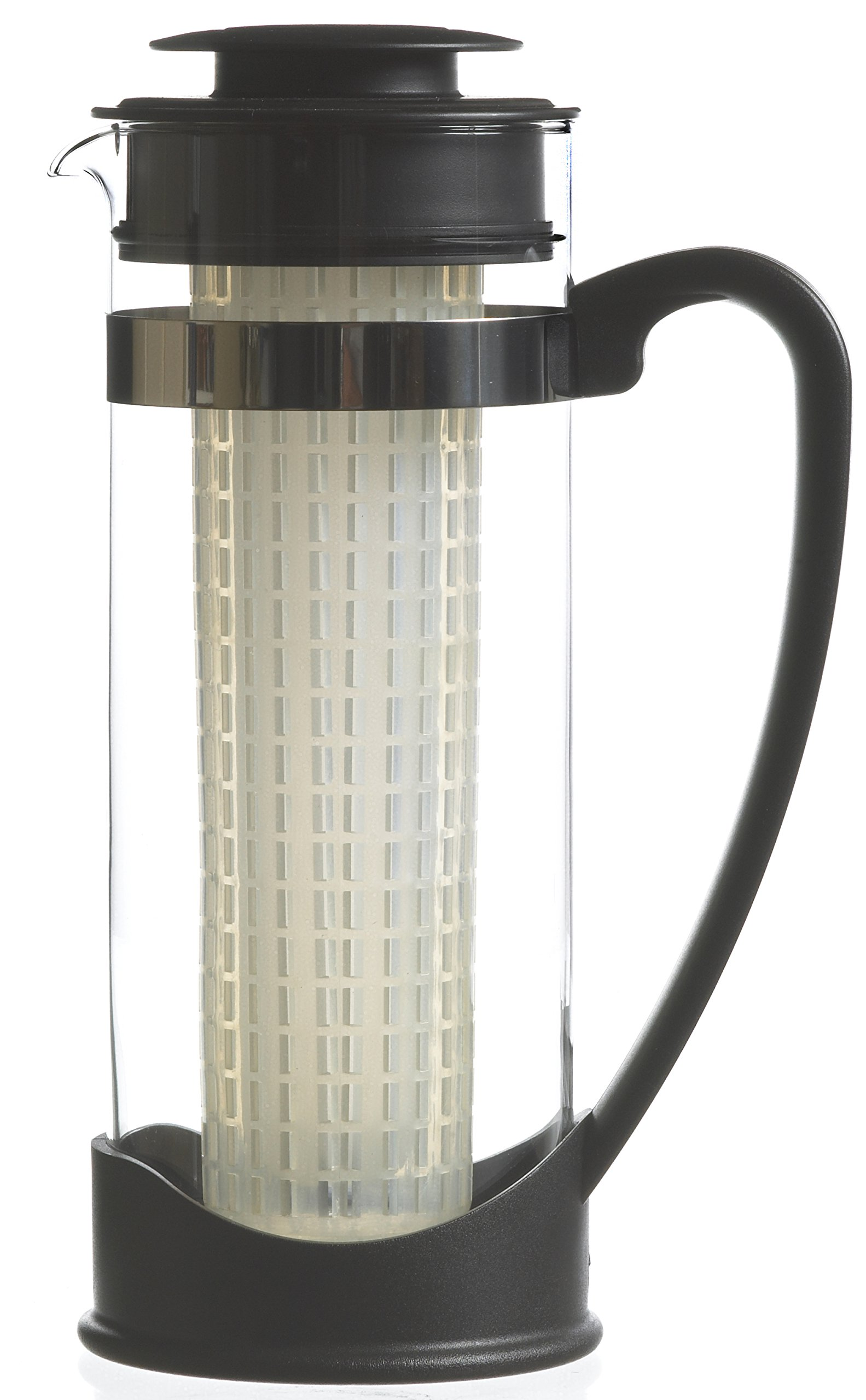 GROSCHE Water and Fruit Borosilicate Glass Infusion Pitchers and Sangria Makers, 50 oz/ 1500 ml BPA and Phthalate-free (Atlantis)
