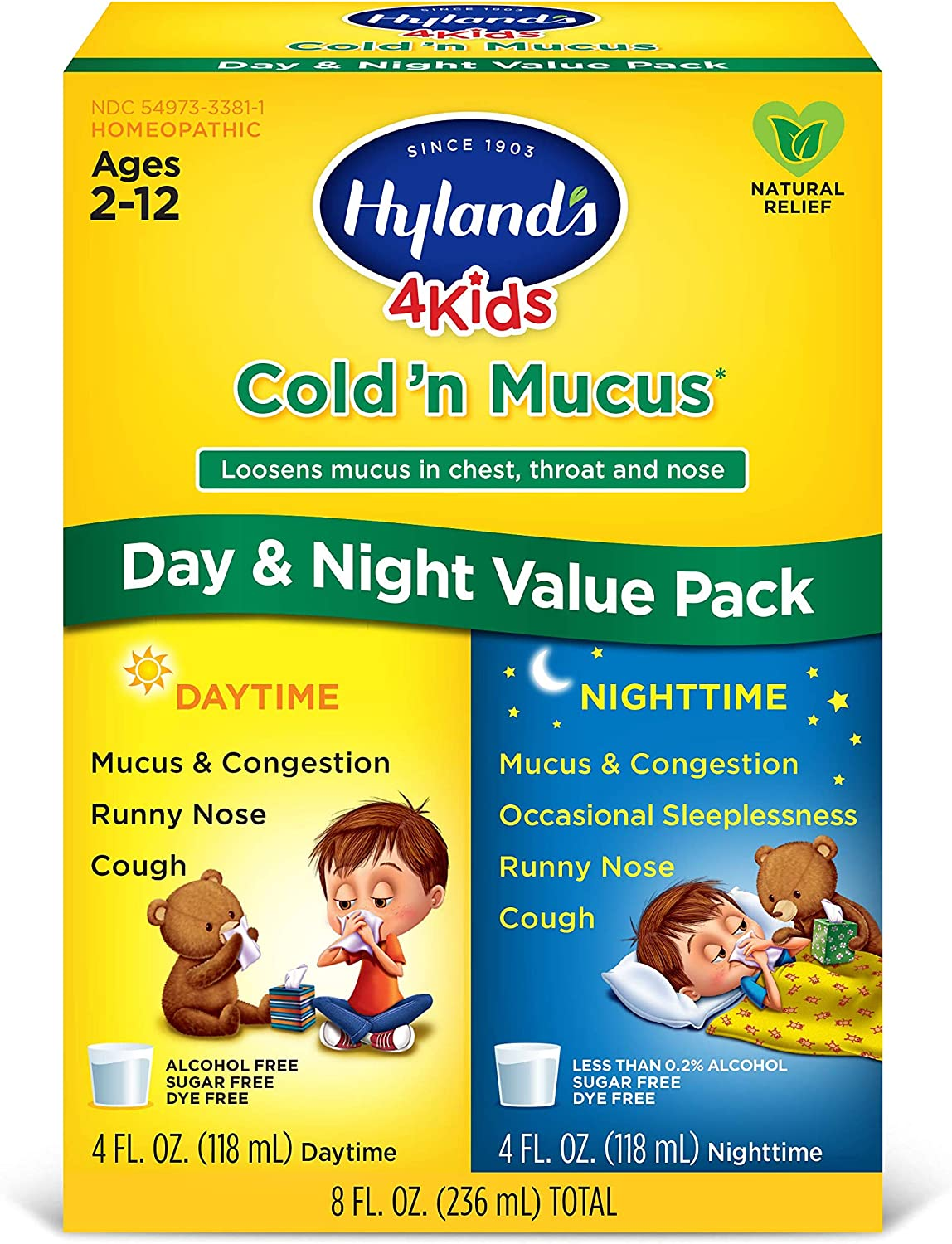 Kids Cold and Mucus Day and Night Value Pack by Hyland's 4Kids