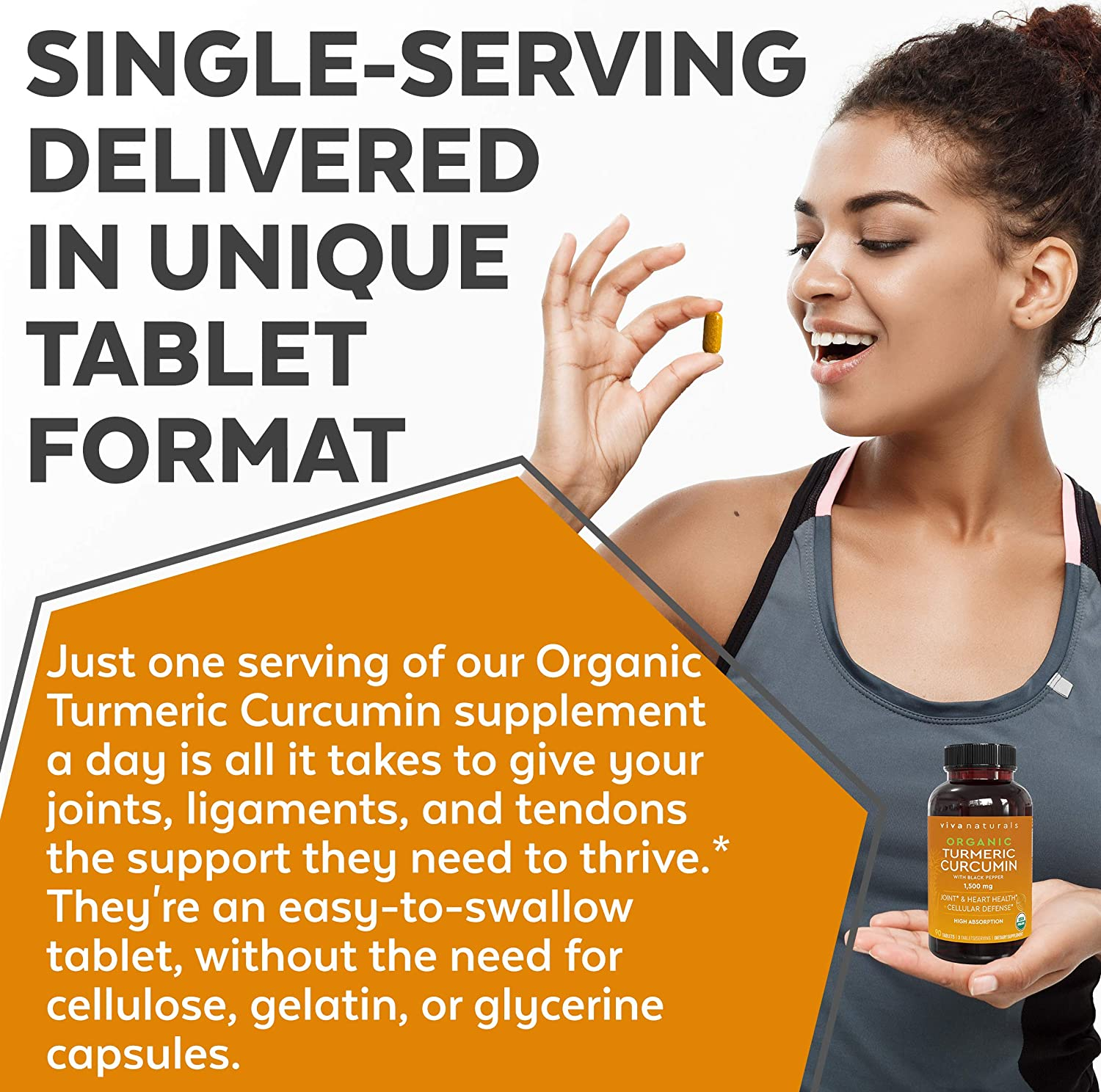 Organic Turmeric Curcumin Supplements with Black Pepper for Better Absorption   1500mg High Potency Turmeric Pills Organic for Joint Support, Joint Supplements for Men & Women, 90 Tablets.: Health & Personal Care