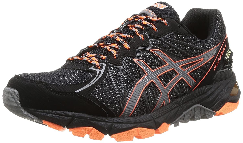 Asics Gel-Fujitrabuco 3 G-TX - Zapatillas de Deporte para Hombre 44 EU Negro (Black / Titanium / Orange 9097)