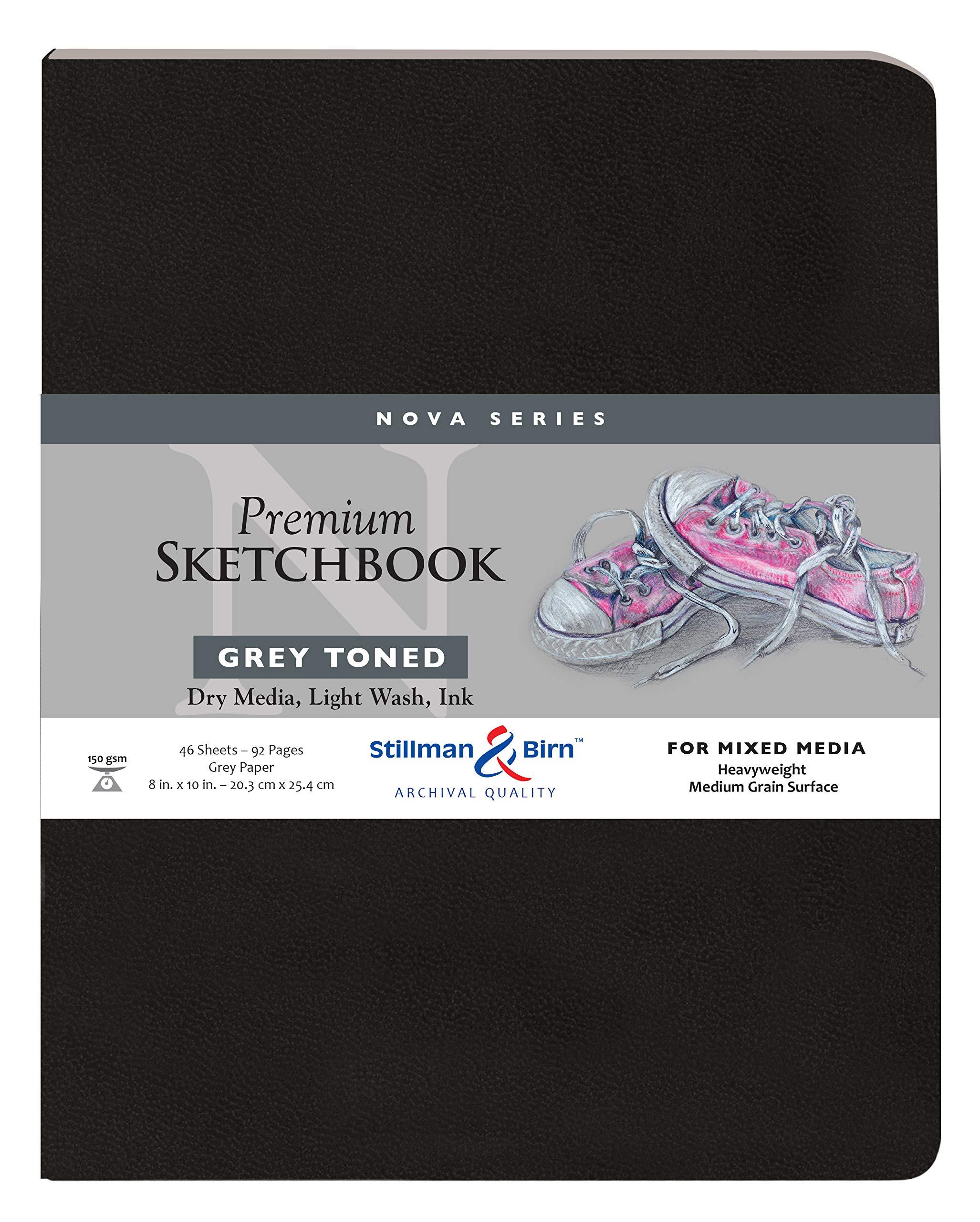 Stillman & Birn Nova Softcover Sketchbook, Grey, 8x10 Inches