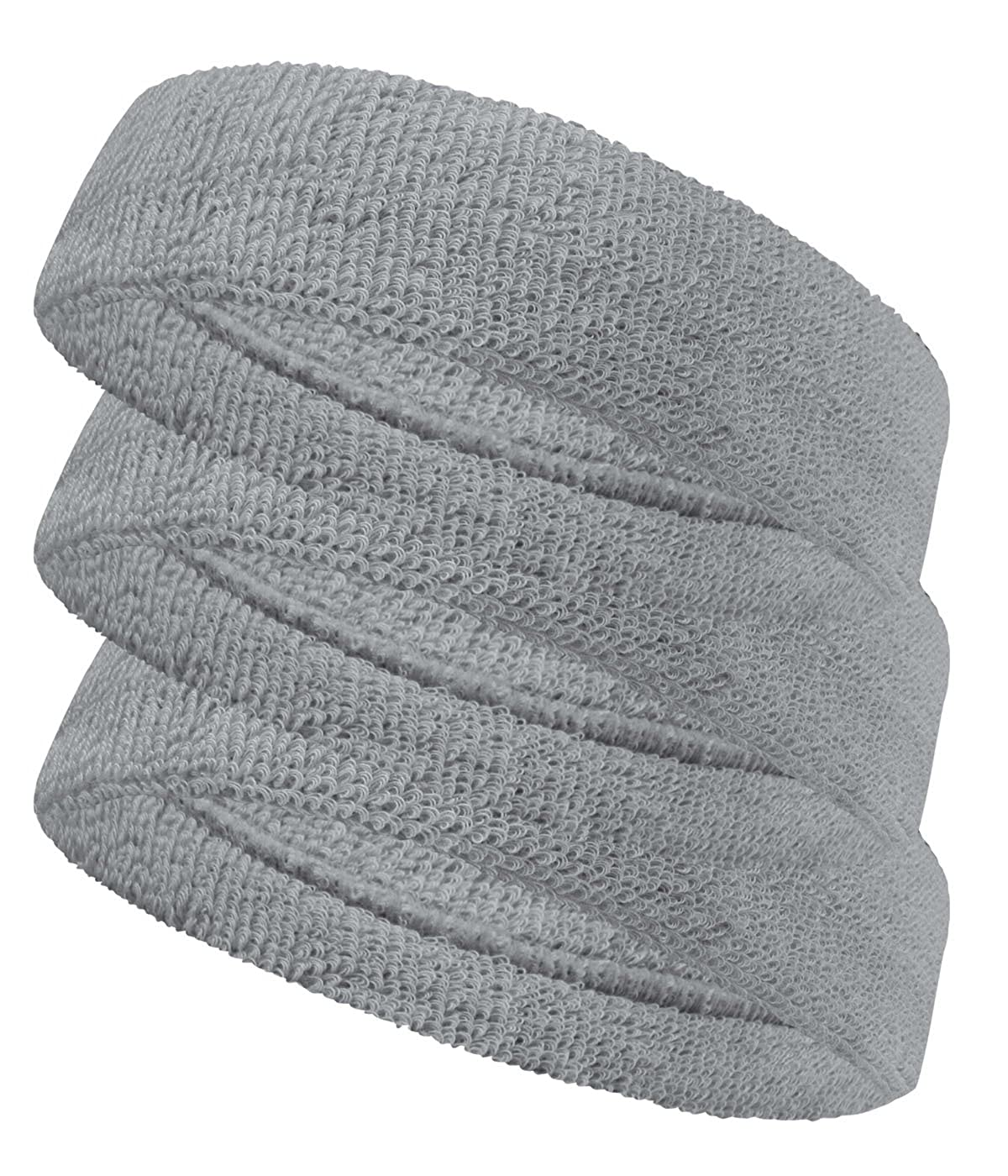 COUVER Stretchable Terry Cloth Headband 3 Piece