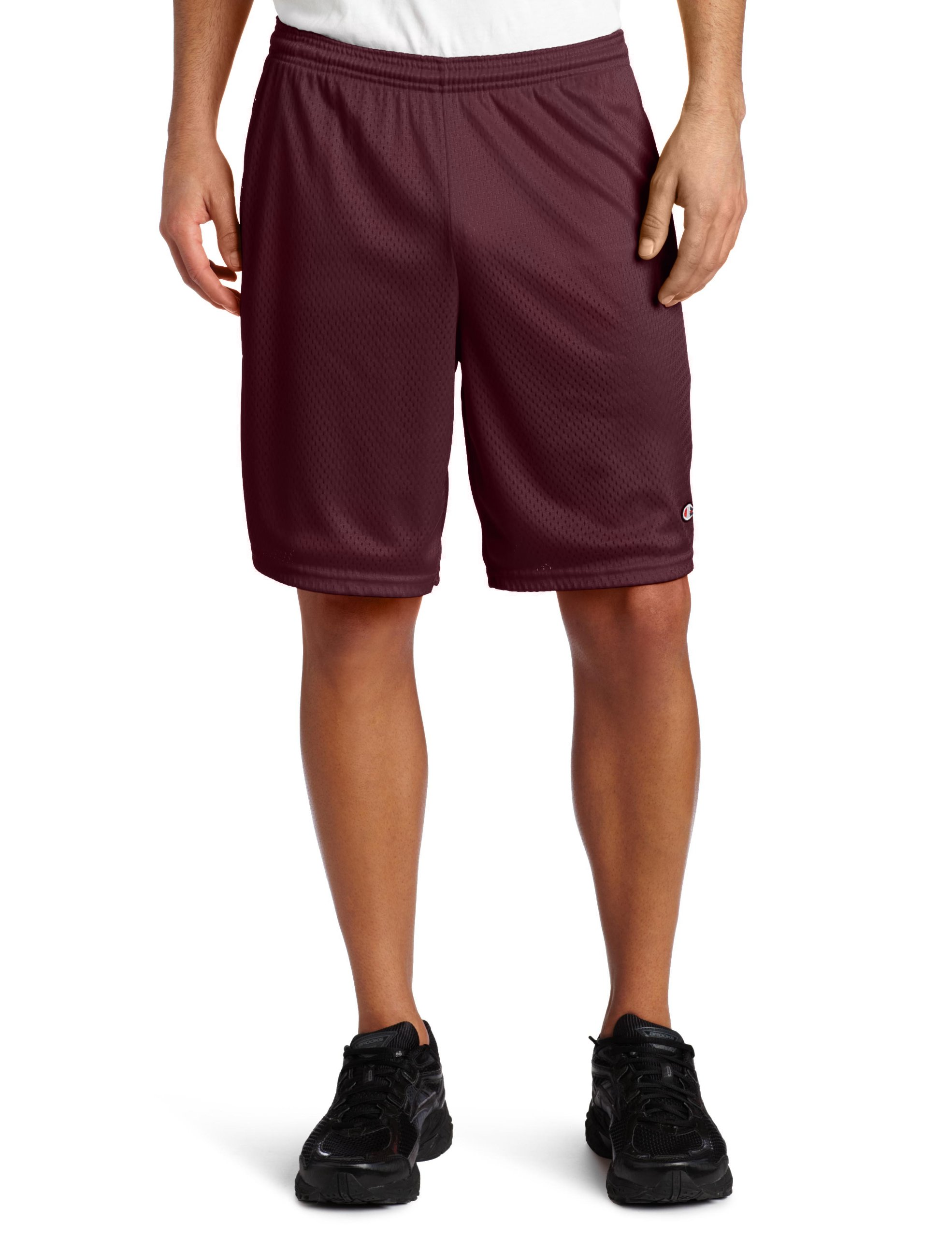 Champion Men's Long Mesh Short with Pockets,Maroon,XX-Large by Champion