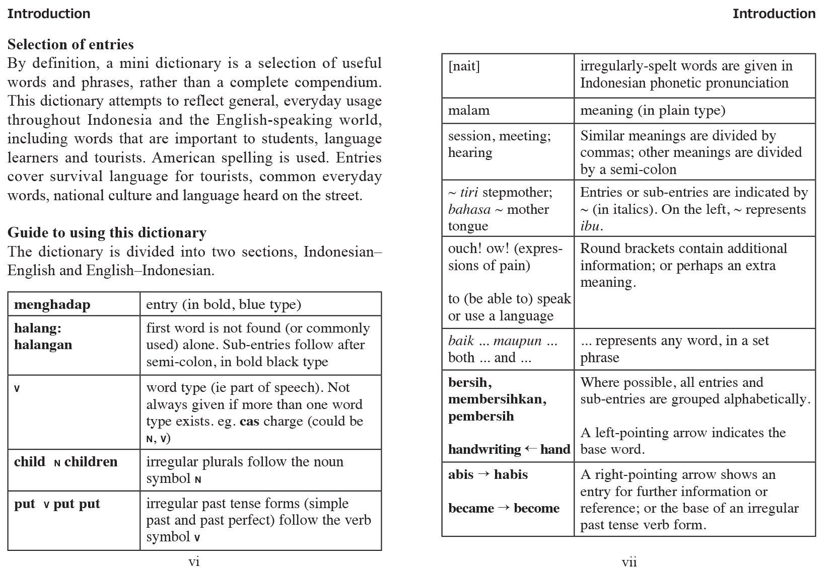 Mini Indonesian Dictionary Indonesian English English Indonesian