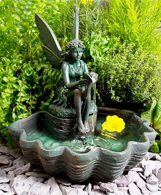 Primrose Fuente de Agua Solar Hada con Luces: Amazon.es: Hogar