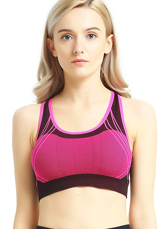 Capricia Odare Womens Sports Bras Seamless Racerback Wireless Padded for Workout Yoga Capricia O/'dare BR1168