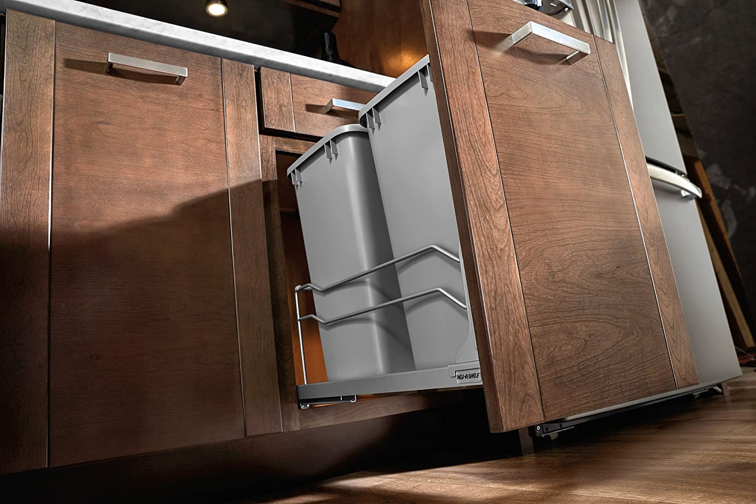 Under Cabinet Container Pull Out Sliding Trash Can Drawer