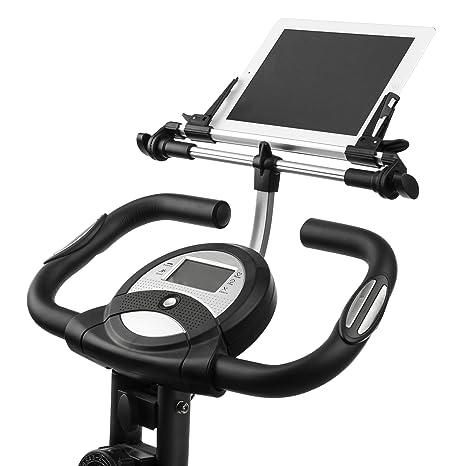 Ultrasport - Soporte Multimedia F-Bike para Tableta, Libro electrónico o teléfono móvil (Compatible con Todos los Modelos de F-Bike), Negro y Plata: ...