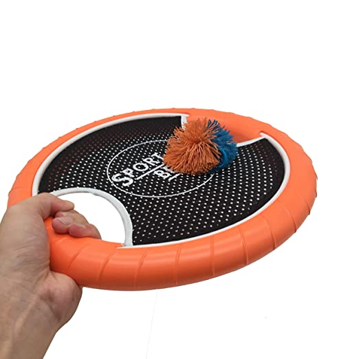 SPORT BEATS Trampoline Paddle Ball Super Disk Game Flying Disc Beach Game Set of 2 Perfect for Outdoor Indoor Games
