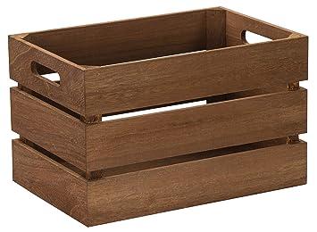 LAUBLUST Caja de Madera Vintage, Asas, Aprox. 31 x 21 x 19 cm, Natural, FSC® - Caja de Almacenamiento para Muebles: Amazon.es: Hogar