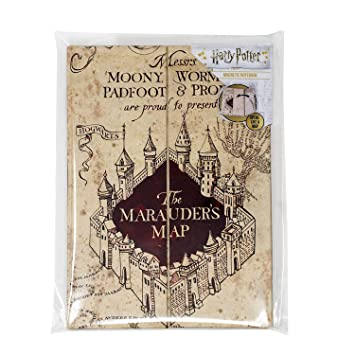 Amazon.com : Harry Potter Magnetic Notebook - Marauders map ...