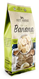 Just About Foods Banana Flour 1 Pound Paleo and Grain Free High In Essential Minerals Gluten Free Contains Dietary Fiber and Potassium Pack of 1