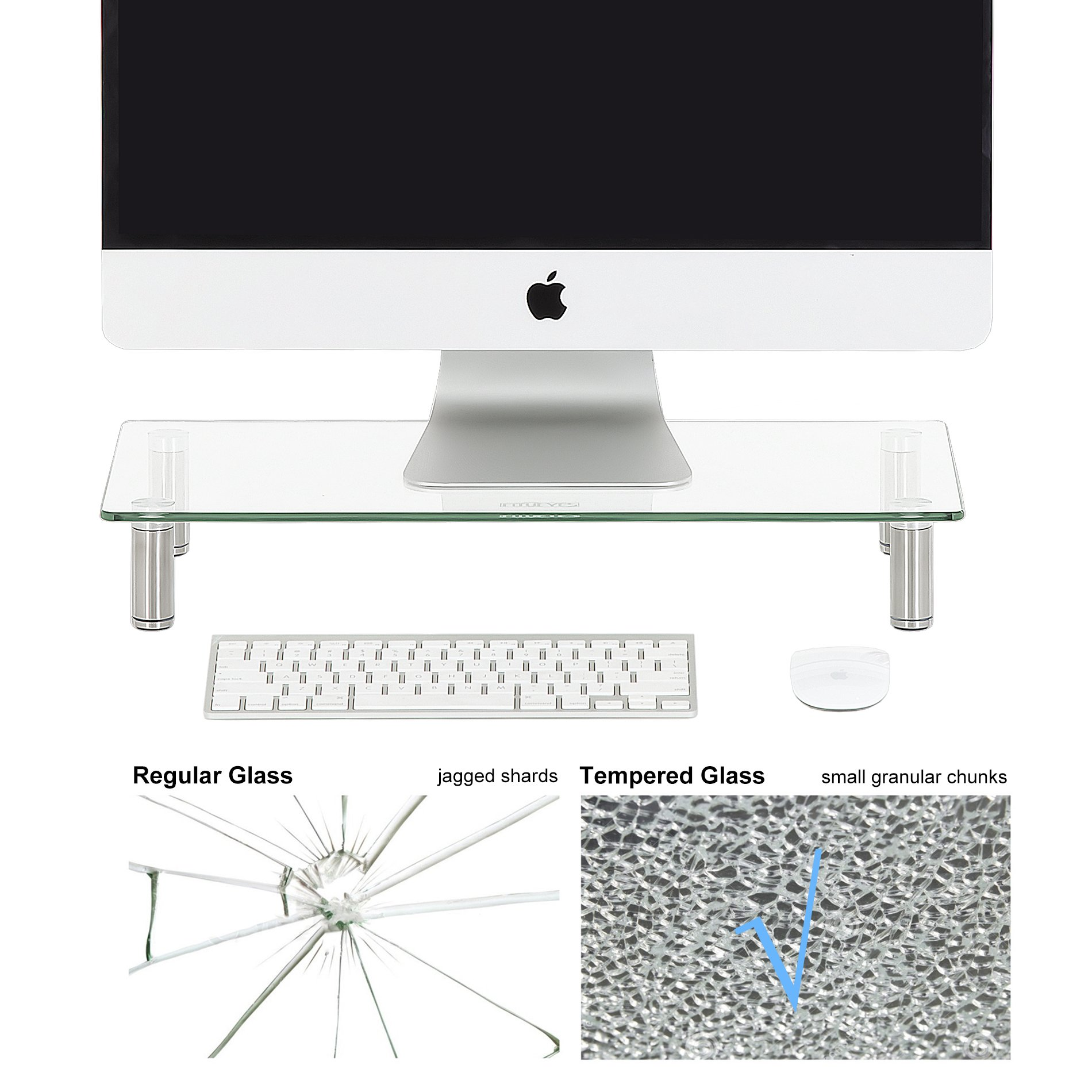 FITUEYES Clear Computer Monitor Riser Save Space Desktop Stand,DT105001GC by FITÜEYES (Image #7)