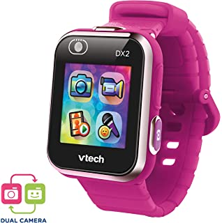 VTech Kidizoom Smart Watch DX2 - Reloj inteligente para niños con doble cámara, color Frambuesa