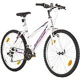 Multibrand, PROBIKE 6th SENSE, 460mm, 26 inch, Mountain Bike, 18 speed, Mudgard Set, For Women, White-Turquoise (White-Turquoise+Mudguard, 17 inch)