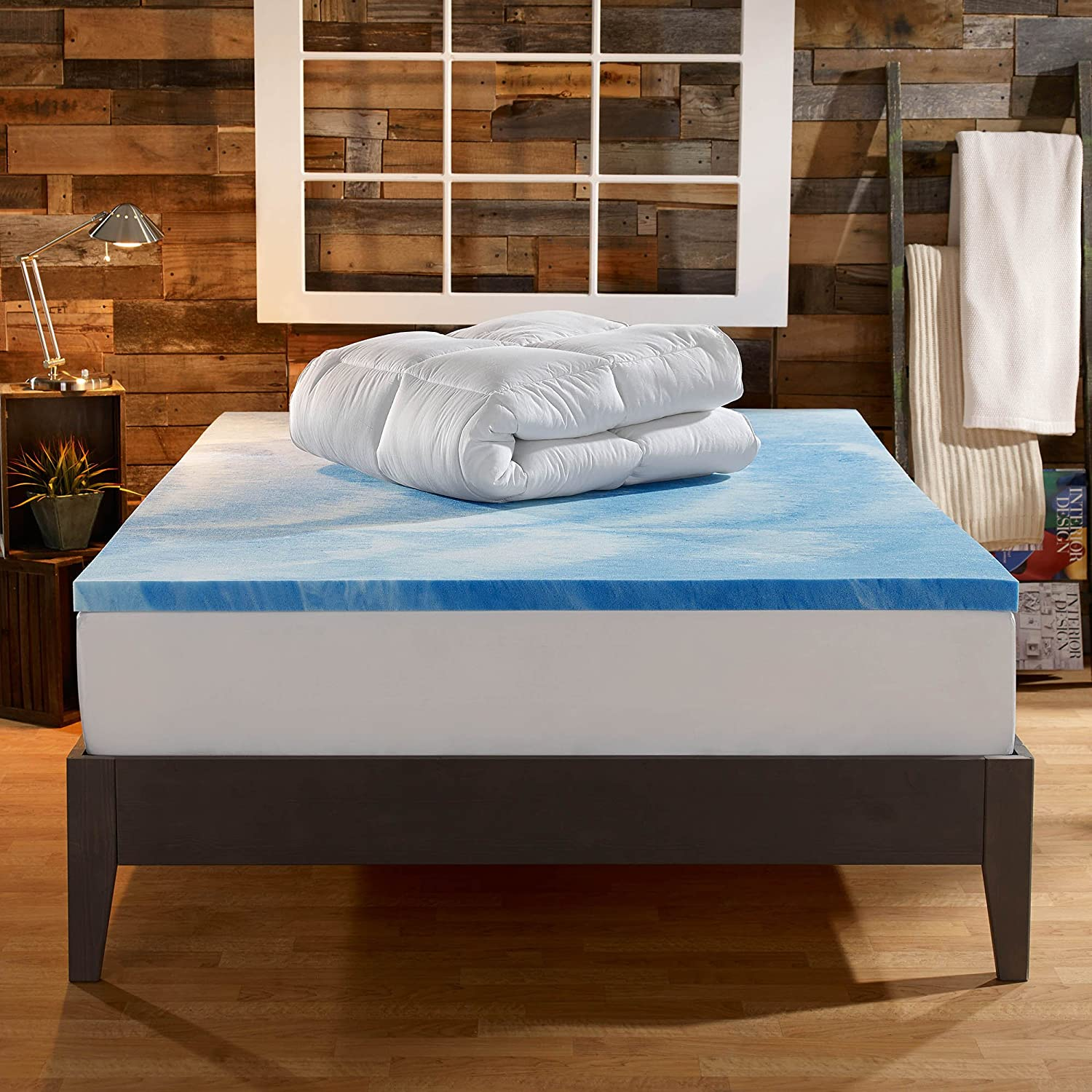 Sleep Innovations 4 Inch Dual Layer Mattress Topper