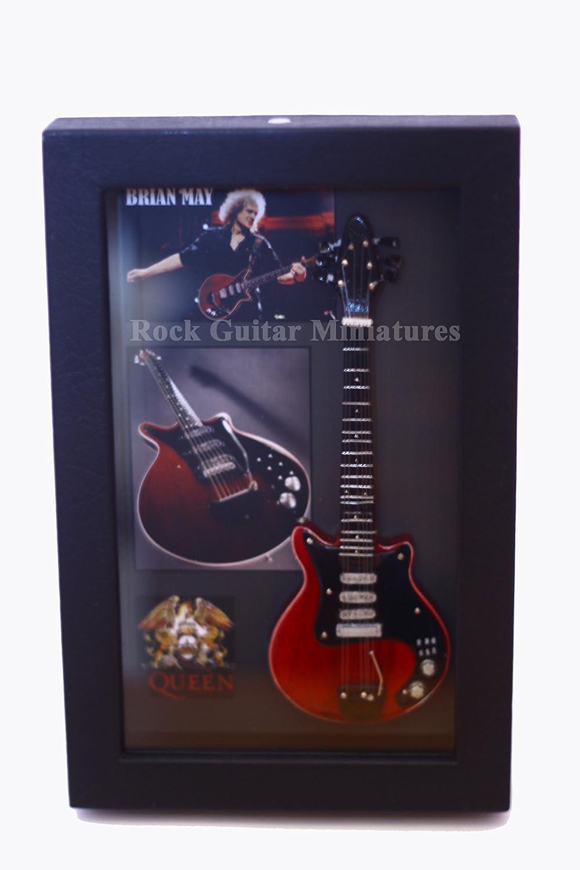 rgm8852 Brian May Queen Guitarra en miniatura recogida en el marco ...