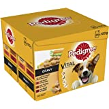 Pedigree  Dog Pouches Real Meals in Gravy, 24 x 100 g - Pack of 2 (Total 48 Pouches)