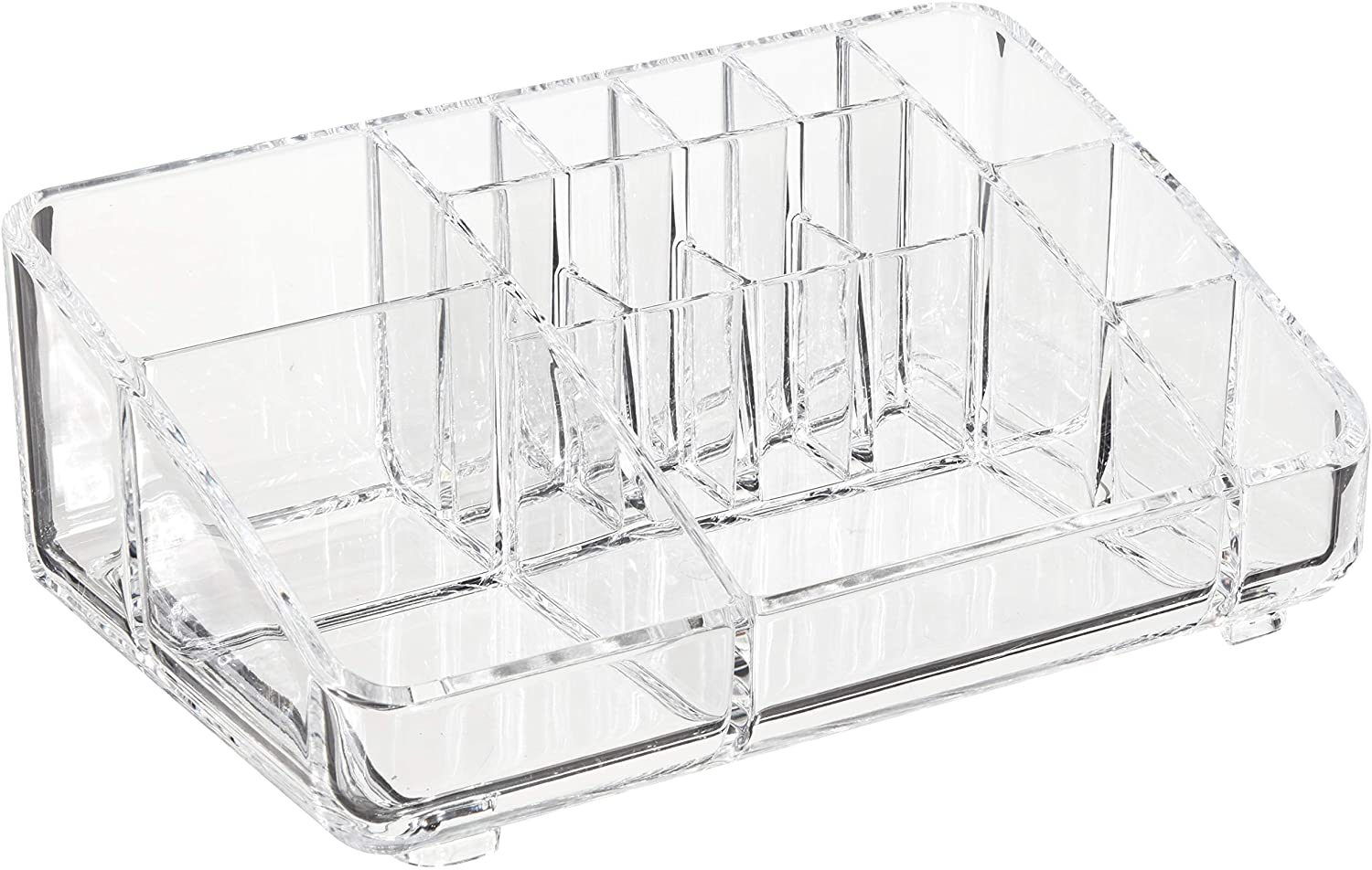 AmazonBasics Square Acrylic Cosmetic Makeup Organizer Storage, Medium