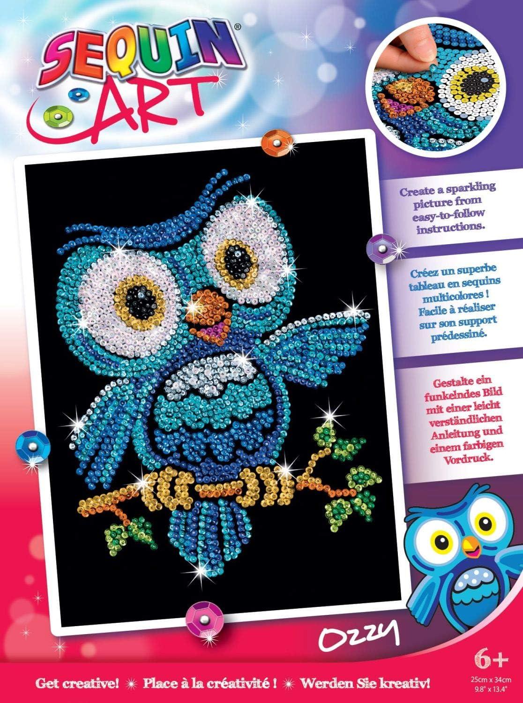Set in resin Dark Red Owl