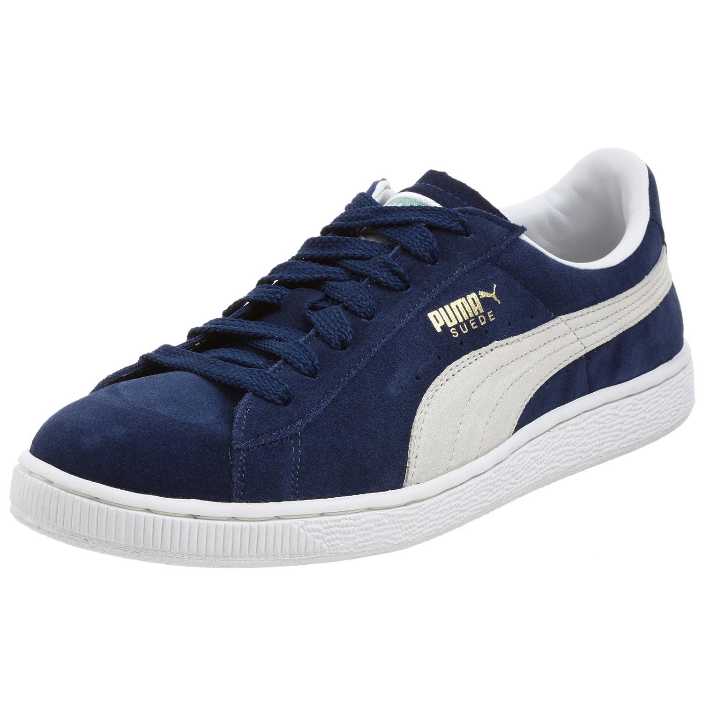 PUMA Adult Suede Classic Shoe B001CHG1X0 7 M US|Blue/White