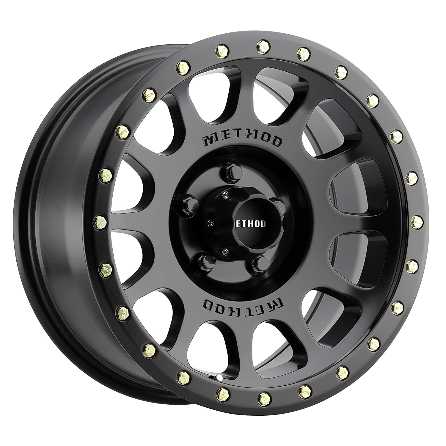 Method Race Wheels NV Matte Black Wheel with Zinc Plated Accent Bolts (178.5''/5150mm 0mm Offset) MR30578558500