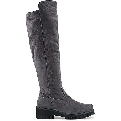 Tamaris Damen Velours Stiefel: Tamaris: : Schuhe