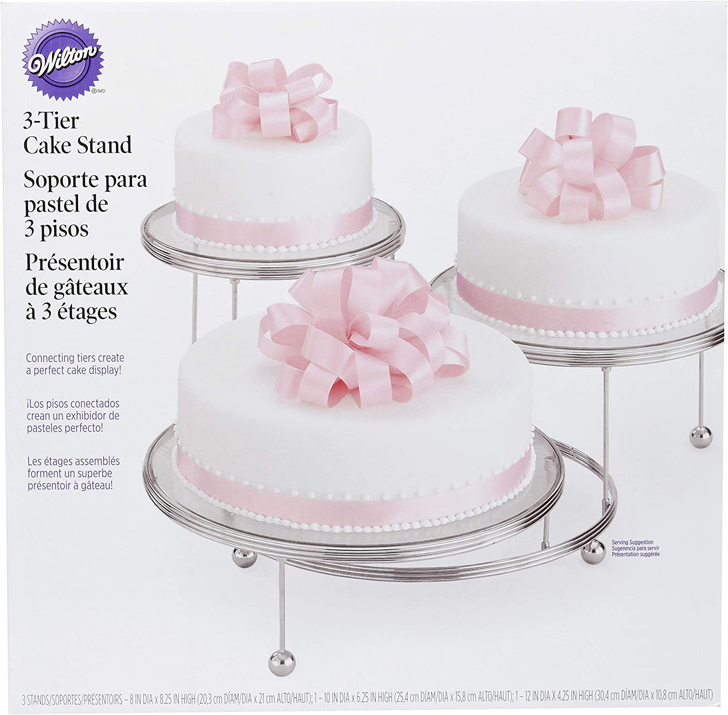 Amazon Com Wilton Cakes N More 3 Tier Cake Stand Silver Cake