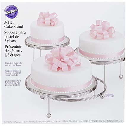 Amazon Com Wilton Cakes N More 3 Tier Cake Stand Chrome Cake Stands