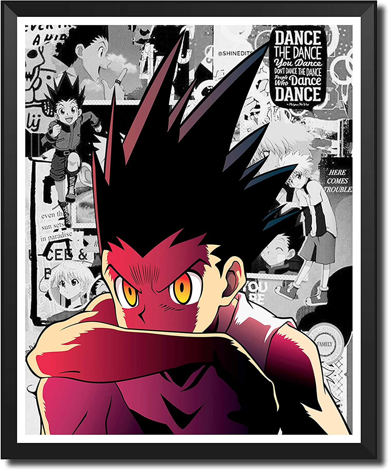 Yansang Anime Hunter x Hunter GON Used For Bathroom Decor Wall Decor Home Decor Canvas Print Poster,Unframed,8 x 10 Inches,Set of 1 Piece