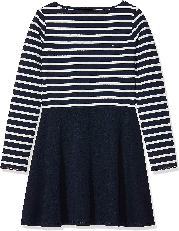 Tommy Hilfiger Essential Stripe Knit Dress L/S Vestido para Niñas