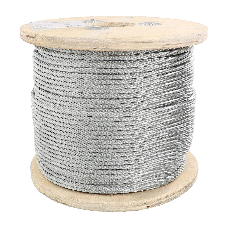 Pro Strand 3/16'' X 500', 7x19, Galvanized Cable Reel