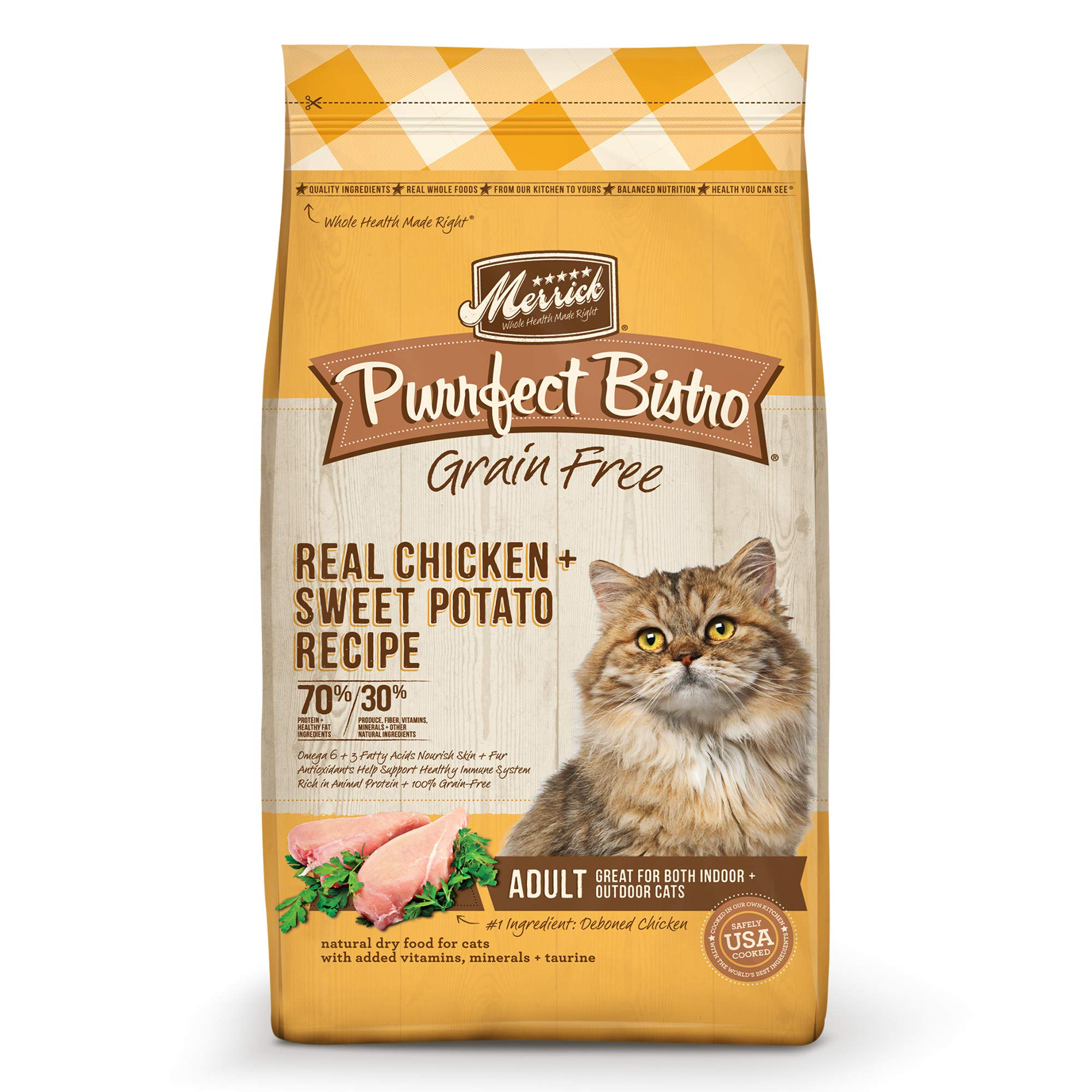 Merrick Purrfect Bistro Grain Free Real Chicken Adult Dry Cat Food, 12 Lbs. by Merrick
