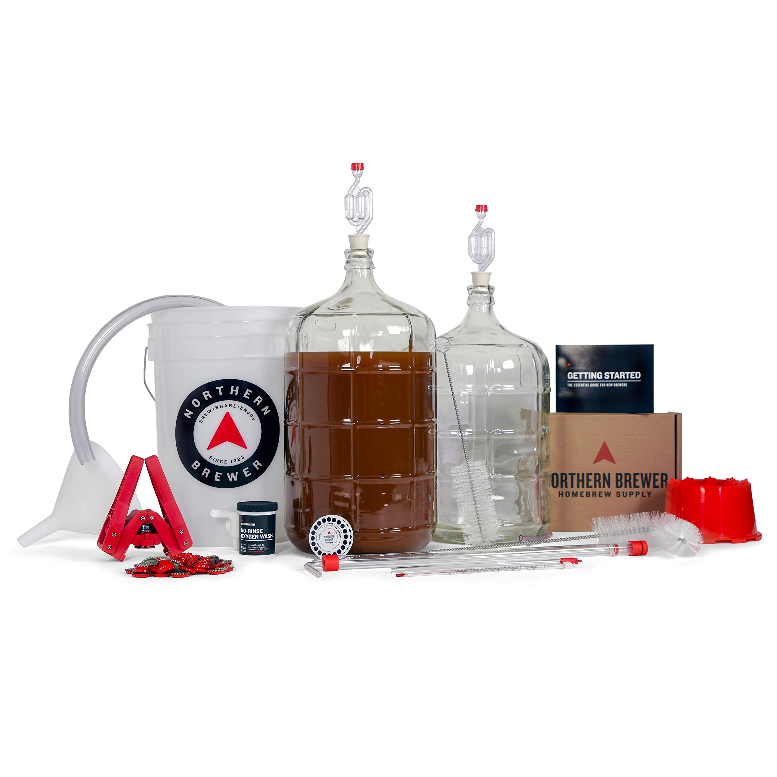 Northern Brewer Deluxe Home Brewing Equipment Starter Kit - Fresh Squished IPA Beer Recipe Kit - Glass Carboys Fermenter with Equipment For Making 5 Gallons Of Homemade Beer by Northern Brewer (Image #7)