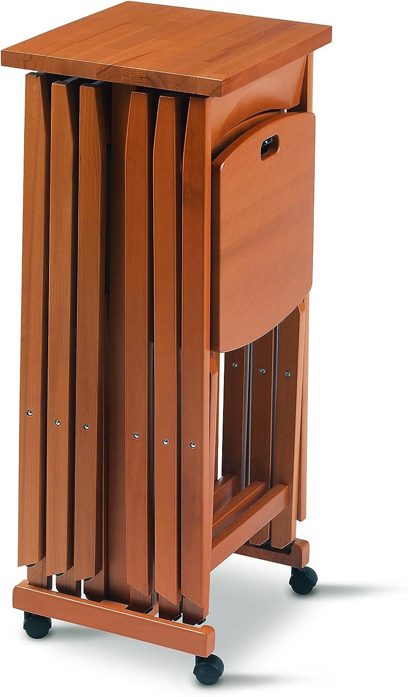 Mobile Porta Sedie Pieghevoli.Arredamenti Italia Porta Sedie 655 Cil Marrone Chiaro Amazon It